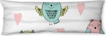 Poduszka relaksacyjna Wektor wzór z kreskówki sowy dla dzieci