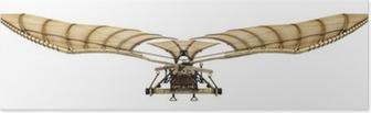 Poster 3d Da Vinci Ornithopter Flying Machine