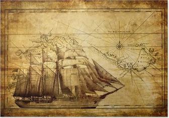 Poster Abenteuer Geschichten - Jahrgang Hintergrund