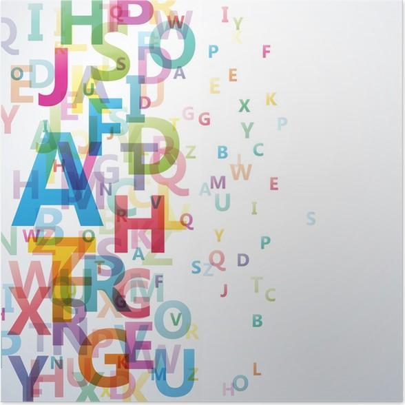 Poster Abstrakt Farbe Alphabet auf weißem Hintergrund # Vektor ...