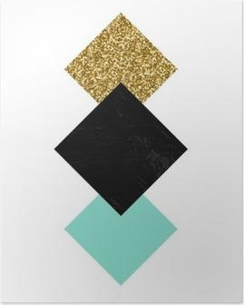 Poster Abstrakte geometrische Komposition