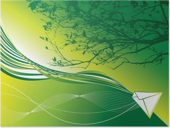 Poster Abstrakte Grüne Erde Mail