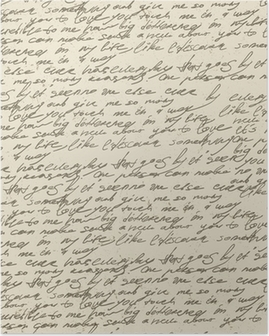 Poster Abstrakte Handschrift auf alten Vintage-Papier. Nahtlose Muster, vec
