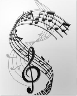 Poster Abstrakte Kunst Hintergrund Musik