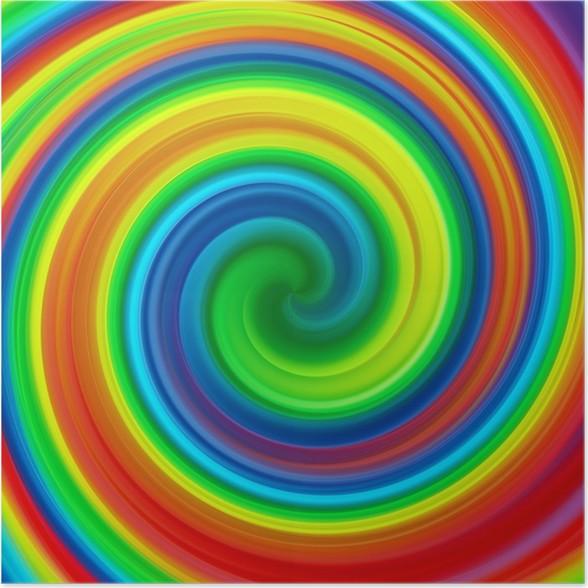 poster abstrakte kunst swirl regenbogen farbe malen hintergrund pixers wir leben um zu. Black Bedroom Furniture Sets. Home Design Ideas
