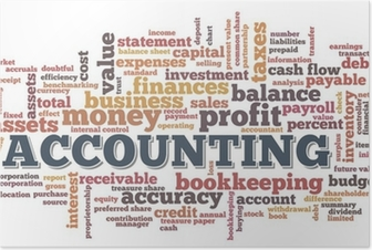 Poster Accounting-Wort-Wolke Wort-Blasen-Tags