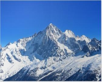 Poster Aiguille Verte - Mont Blanc (Haute-Savoie)