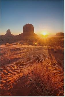 Poster Alba sulla Monument Valley, USA
