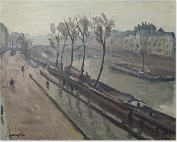Poster Albert Marquet - Il molo di Grands-Augustins nella pioggia - Reproductions