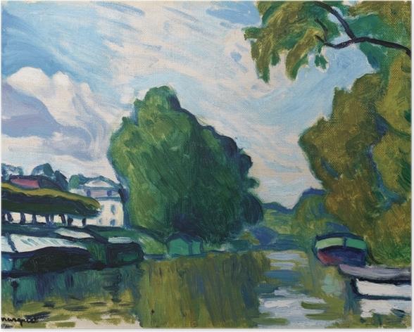Poster Albert Marquet - Ufer der Seine bei Poissy - Reproductions