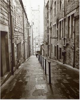 Poster Alte Straßen von Edinburgh