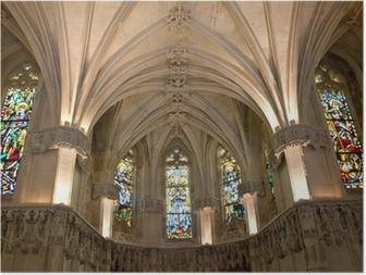 Poster Amboise castle.Chapel dove è sepolto Leonardo da Vinci.