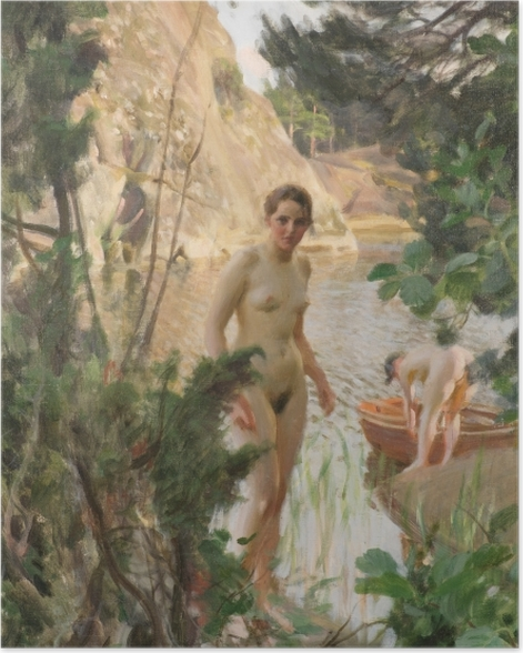 Poster Anders Zorn - Boot - Reproductions