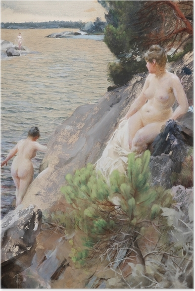 Poster Anders Zorn - Sommer - Reproductions
