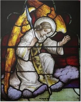 Poster Angel (Buntglas)