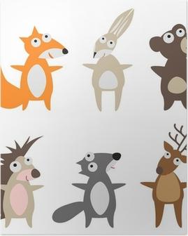 Poster Animali selvatici di cui