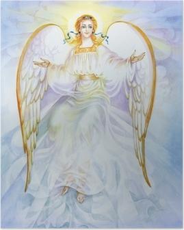 "Poster Aquarell ""Angel"""