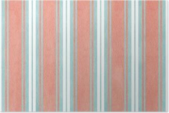Poster Aquarell blau und rosa gestreiften Hintergrund.