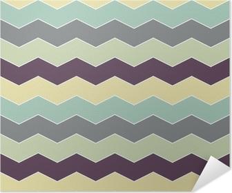 Poster Astratta retrò pattern geometrico