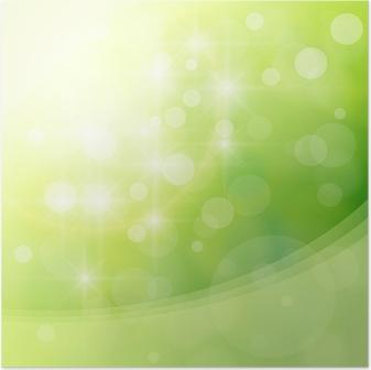 Poster Astratto Sfondo Verde Chiaro Illustrazione Vettoriale