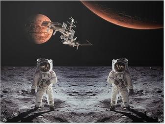 Poster Astronauti Spaceman Luna Pianeti