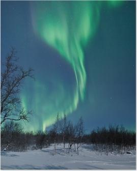 Poster Aurora Borealis in Schweden
