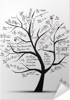 Poster Autoadesivo Albero di matematica per il vostro disegno