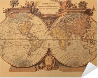 Cartina Antica Mondo.Poster Antica Mappa Del Mondo Pixers Viviamo Per Il Cambiamento