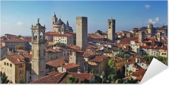 Poster Autoadesivo Bergamo, città medievale di nord Italia