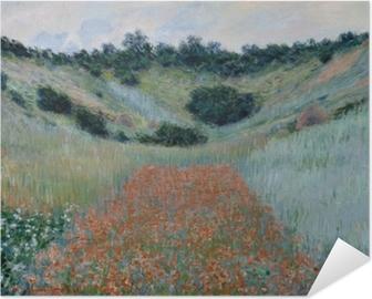 Poster Autoadesivo Claude Monet - Campo di papaveri vicino a Giverny