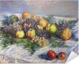 Poster Autoadesivo Claude Monet - Pere e uva. Natura morta con frutta