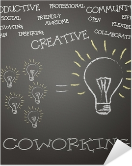 Poster Autoadesivo Concepto coworking