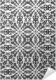 Poster Autoadesivo Disegno Geometrico senza soluzione di continuità. Abstract Background