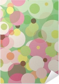 Poster Autoadesivo Dots Pastel