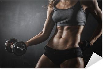 Poster Autoadesivo Fitness con manubri