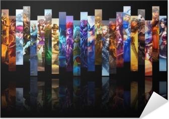 Poster Autoadesivo League of Legends