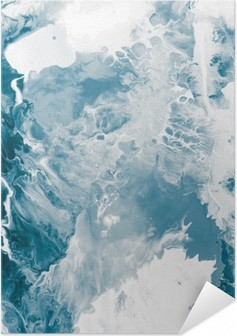 Poster Autoadesivo Marmo texture blu