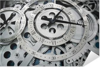 Poster Autoadesivo Orologio e ingranaggi