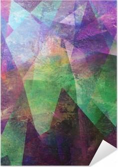 Poster Autoadesivo Pittura, grafica astratta