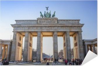 Poster Autoadesivo Porta di Brandeburgo a Berlino, Germania
