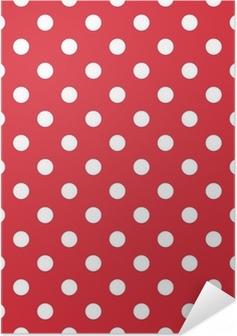 Poster Autoadesivo Red sfondo retrò senza soluzione di vettore modello pois