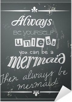 Poster Autoadesivo Retro citazione divertente su una lavagna nera