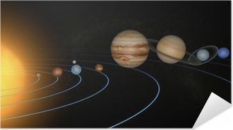 Poster Autoadesivo Sistema solare pianeti spazio universo sole