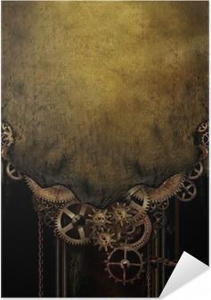 Poster Autoadesivo Steampunk Sfondo