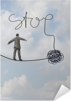 Poster Autoadesivo Stop