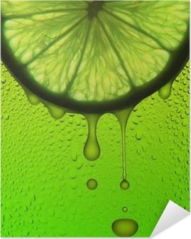 Poster Autoadesivo Succo di limone