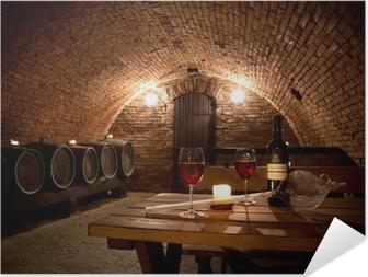 Poster Autoadesivo Wine cellar
