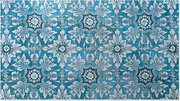 Poster Azulejos, Piastrelle Portoghesi Tradizionali