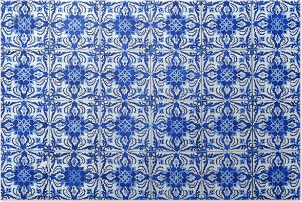 Poster Azulejos Traditionelle Portugiesische Fliesen Pixers - Portugiesische fliesen küche