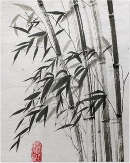 Poster Bambus ist ein Symbol für ein langes Leben und Wohlstand